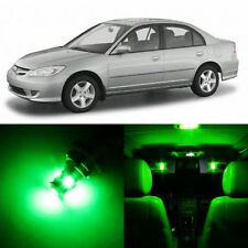 8 x Ultra Green Interior LED Lights Package For 2001- 2005 Honda Civic +TOOL