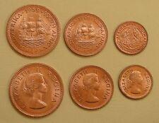 Südafrika / South Africa 1/4, 1/2, 1 Penny 1955-60 unz.