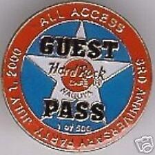 Hard Rock Cafe NAGOYA 2000 3rd Anniversary PIN GUEST PASS Star