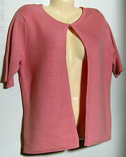 Alex Marie Knit Jacket Short Sleeves New with Tags Size Medium Geranium Color