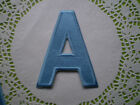 100% EMBROIDERY IRON ON LARGE LETTER ALPHABET MOTIF PATCH PINK BLUE SEW 11x8cm