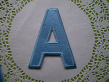 IRON ON LETTER 100% EMBROIDERY LARGE ALPHABET PATCH PINK BLUE WHITE BLACK 11x8cm