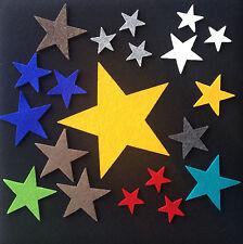 5 Stück - Filz Stern Streudeko Tischdeko Schurwoll Filz - 3 Größen, viele Farben