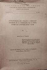 Universidad de Chile Estratigrafia del Jurasico y Cretaceo Levi Valenzuela 1960