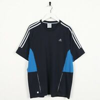 Vintage ADIDAS Small Logo T Shirt Tee Navy Blue | Medium M