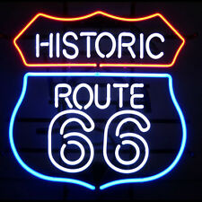 "Historic Route 66 Full Color Collectible Neon Sign 22"" Diameter 5RT66N"