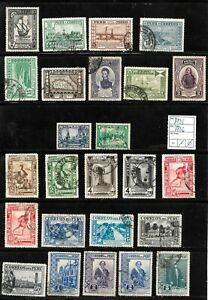 (57603) PERU CLASSIC STAMPS 1935/1936 NICE SELECTION USED UNUSED