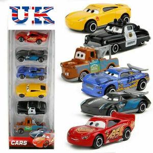 6X Disney Pixar Cars 3 Lightning McQueen Racer Car Kids Toy Collection Set Gift.