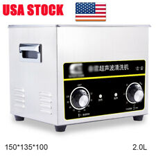 2L Ultrasonic Cleaners Cleaning Equipment Liter Industry Heated W/ Timer Heater
