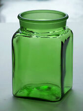 Vintage Dakota Green Ground Glass Apothecary Pharmacy Kitchen Canister Jar