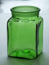 Vintage Dakota Green Ground Glass Apothecary Pharmacy Kitchen Canister Jar