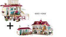 Schleich 42415  Horse Club Wohnwagen + 42416 - Großer Pferdehof mit Wohnhaus und