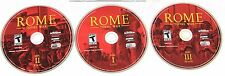 Rome Total War PC CD-ROM Win 98/Me/2000/XP(3 DISCS,IN 2JEWEL CASES)NO MANUAL