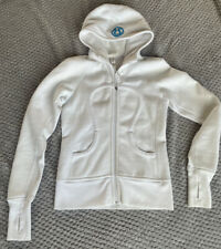 Lululemon Scuba Hoodie Size US4, White, 'As New' Condition