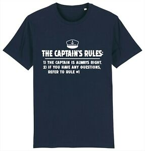 THE CAPTAIN'S RULES Skipper Boating Yachting Sailing Sailing T-Shirt