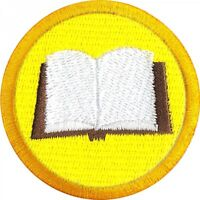 Reading Wilderness Scout Merit Badge Embroidered Iron on Patch