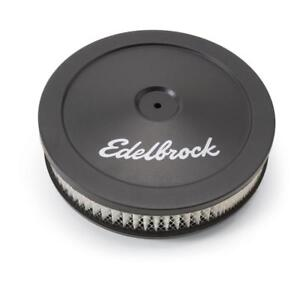"""Edelbrock Air Cleaner Assembly 1203; Signature Series Black Steel Round 10"""" x 2"""""""