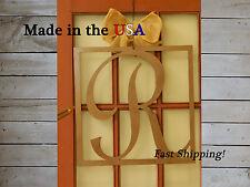 "20"" Square Monogram Door Hanger-Name Initial Decor-Hanging Metal Craft - DS1030"