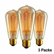 3pz E27 ST64 Lampadina Led Edison Lampada Vintage Retro Filamento Luce Bulb 40W