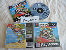 Theme Park World PS1 (COMPLETE) Bullfrog rare black label Sony PlayStation