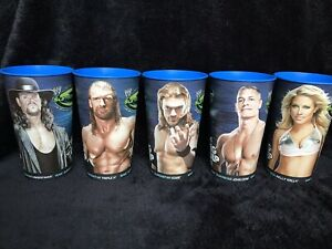 Brand New Never Used WWE Summer Slam 2009 Super Big Gulp 7 Eleven Cups Set Of 5