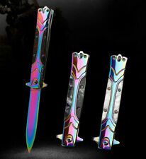 """9""""  TACTICAL STILETTO Folding POCKET KNIFE Blade Open Stainless"""