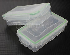 2x Waterproof Battery Case Transparent Plastic Box Holder for 18650 CR123A 16340