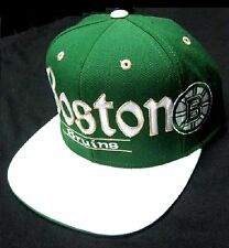 Boston Bruins NHL Reebok Flat Hat Cap Green Irish Clover St Patrick's Shamrock
