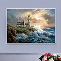 Seaside Lighthouse Full Drill 5D Diamond Painting Embroidery Cross Stitch M6942