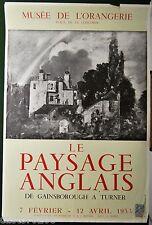 AFFICHE peinture PAYSAGE ANGLAIS Gainsborough Turner 1953 62x41,5 cm
