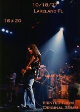 Lynyrd Skynyrd 1977 Group 16 X 20 Color Photo Lakeland,FL Freebird