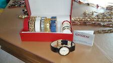 Gruen Watch Set 15 pieces w/ Changeable Bands Bezels NO Battery, excellent cond.