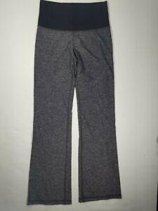 Lululemon Womens Sz 4 Slim Straight  Leggings Gray Black Yoga Pants