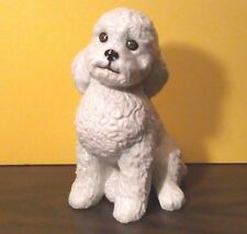 "Large 8"" BICHON Dog Porcelain Ceramic Figurine Statute By DNC Collections NIB"