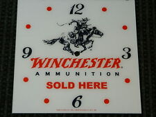 "*NEW* 15"" WINCHESTER GUNS GASOLINE HOT ROD SQUARE GLASS clock FACE FOR PAM"