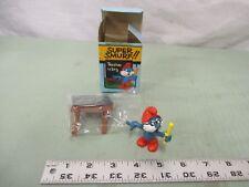 Super Smurf Figure box Vintage Toy Schleich Papa Teacher Blackboard school math