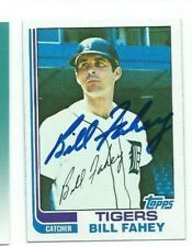 1982 SIGNED BILL FAHEY TOPPS TIGERS