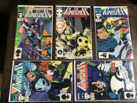 The Punisher #1, 2, 3, 4 & 5 Marvel Group Comics Lot 1987 Unlimited Series VF/NM