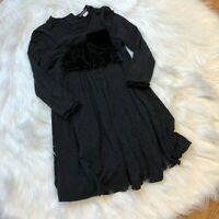 David Charles Girl's Gray Long Sleeve Dress Size 4 Years