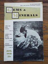 Vintage 1958 Gems & Minerals Magazine Gold Mining Ca/Carson Hill Mother Load Nv