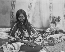 PIEGAN INDIAN WOMAN PORTRAIT EDWARD S. CURTIS 11x14 SILVER HALIDE PHOTO PRINT
