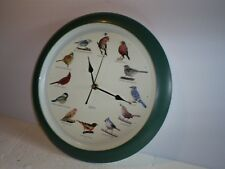 "Used 13.5"" Quartz Singing Bird Wall Clock"