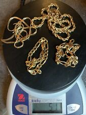 Lot Of 4pc 14k Gold Jewelry Chains Necklaces 51g/33dwt Marked/Tested (265012)