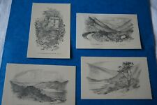 Judges Sketch Postcards set of 4 of the Lake District