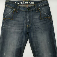 G-Star W34 L32 blau Herren Men Jeans Designer Denim Retro Hose Vintage Mode Chic