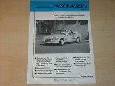 61500) Ford Escort Cabrio - Sierra Merkur Karmann Prospekt 199?
