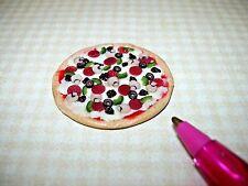 Miniature Lola Originals WHOLE Supreme Pizza for DOLLHOUSE, Wow!  1/12 Scale