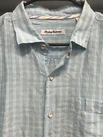 🌴☀️Tommy Bahama Men's Button Down Check Plaid Shirt Large L 🌴☀️