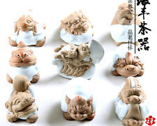 Hand Carved Ru Kiln & Zisha Tea Pet Nine Child Of The Dragon