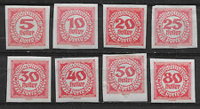 AUSTRIA , 1919 , POSTAGE DUE , SET OF 8  STAMPS   , IMPERF , M/H